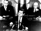 President John F. Kennedy expands U.S. Space Program.